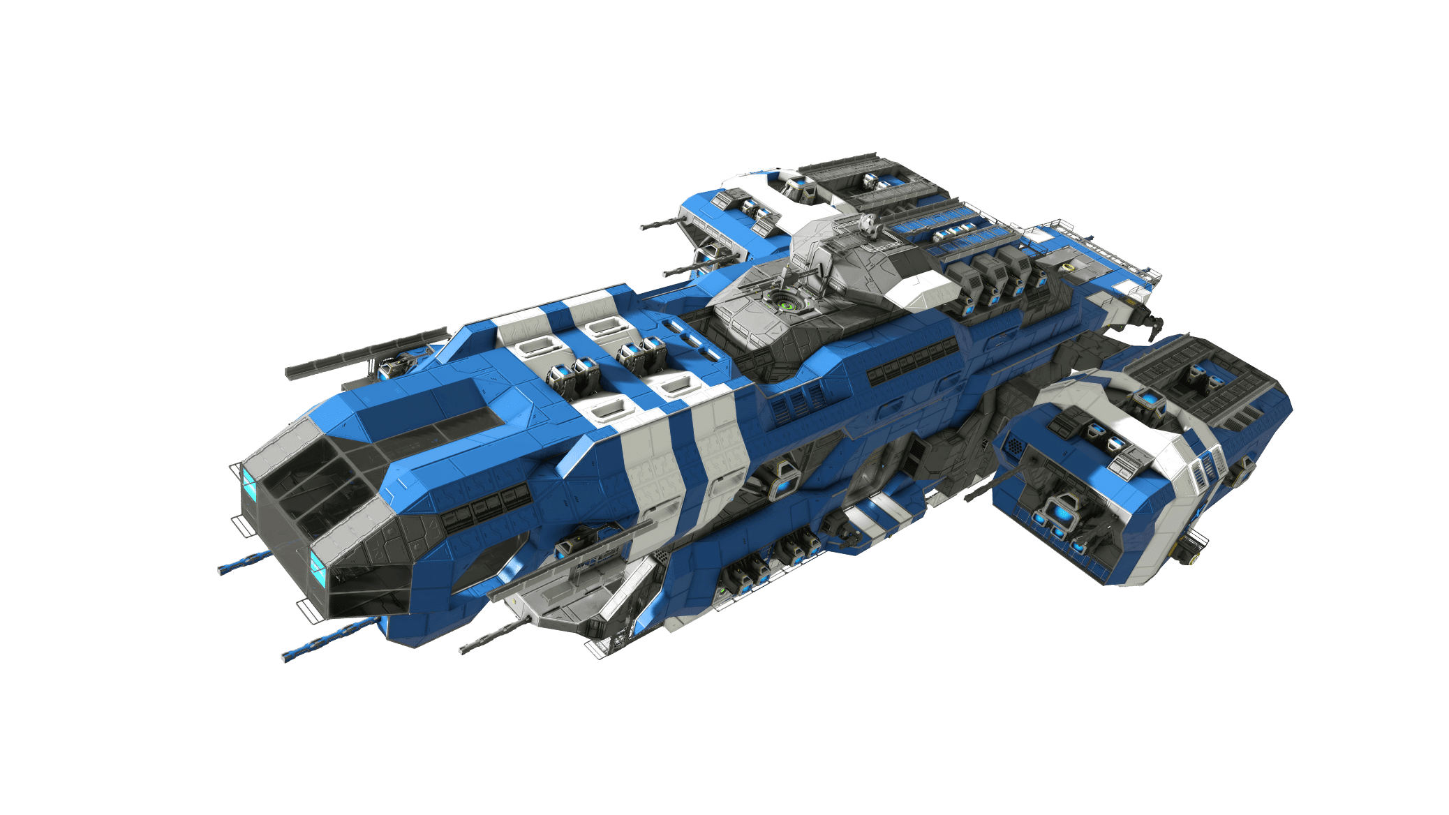 Space Engineers Blue Ship