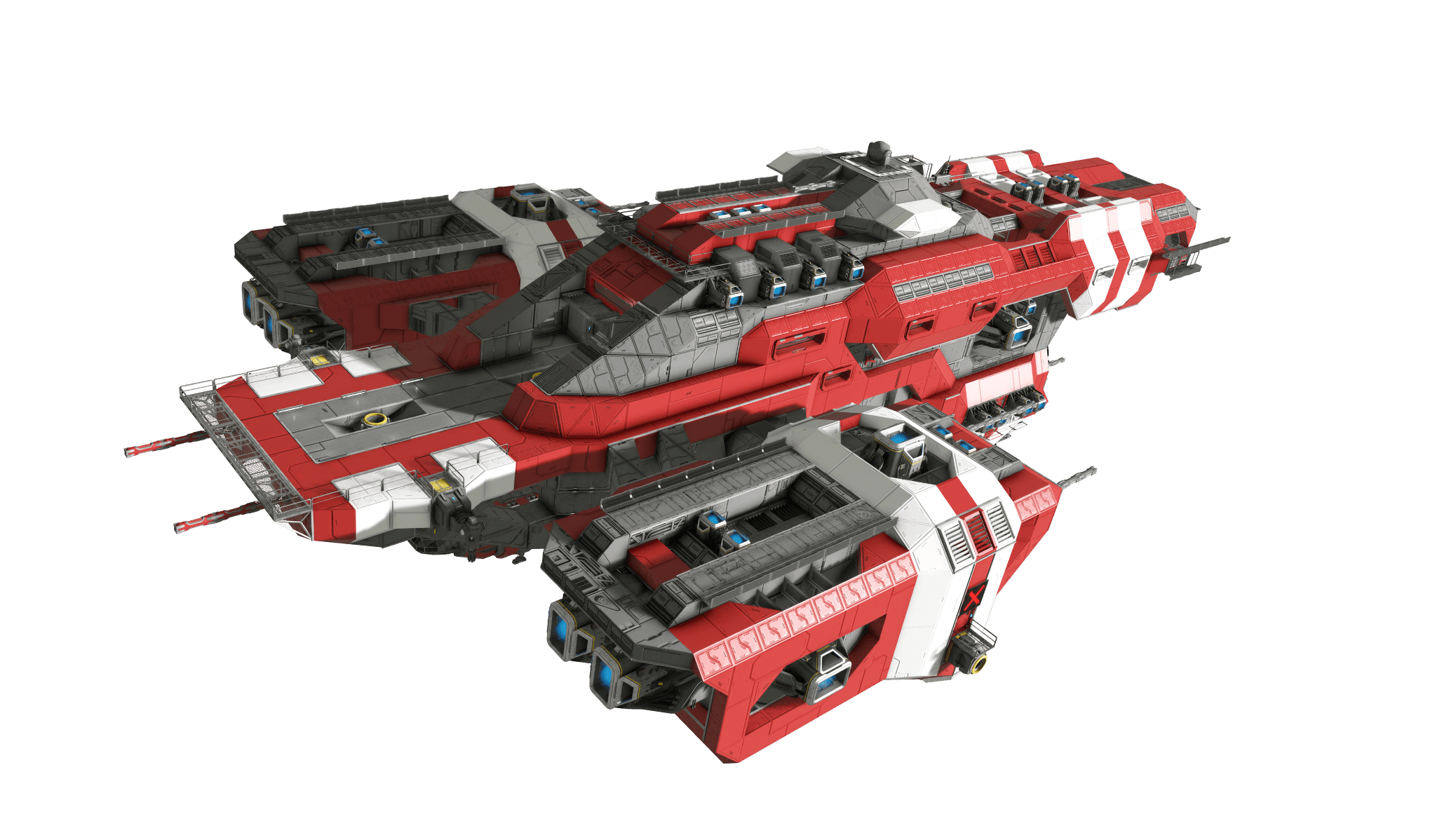 Space Engineers Red Ship