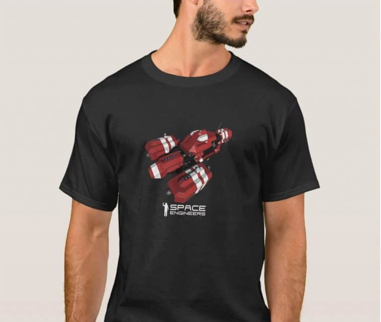 Space Engineers Red ship t-shirt